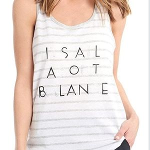 """Lole """"it's all about balance"""" yoga tank top"""